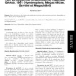 Nidification dans des cavités pierreuses de deux Megachilidae de Grèce (Epire) : Hoplitis (Hoplitis) fabrei Van der Zanden, 1987 et Megachile (Chalicodoma) manicata Giraud, 1861 (Hymenoptera, Megachilidae, Osmiini et Megachilini)