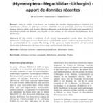 Sur la distribution en France de Lithurgus cornutus FABRICIUS 1827 (Apoidea – Megachilidae – Lithurgini) : apport de données récentes