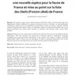 Stelis franconica BLÜTHGEN 1930 (Apoidea – Megachilidae – Anthidiini), une nouvelle espèce pour la faune de France et mise au point sur la liste des Stelis (PANZER 1906) de France
