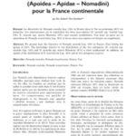 Première mention de Nomada numida LEPELETIER 1841 (Apoidea – Apidae – Nomadini) pour la France continentale